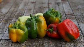 Fresh sweet pepper different colors Stock Photo