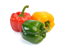 Fresh sweet pepper isolated on white background Royalty Free Stock Photos