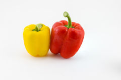 Fresh sweet pepper. Isolated on white background Royalty Free Stock Images