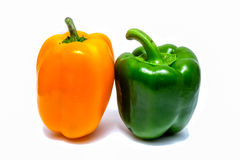 Fresh sweet pepper isolated on white background Stock Photos
