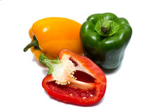Fresh sweet pepper isolated on white background Royalty Free Stock Images