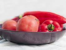 Fresh sweet pepper, tomato. Royalty Free Stock Photo