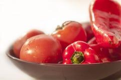 Fresh sweet pepper, tomato. Royalty Free Stock Photos