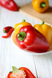 Fresh and sweet peppers in a bowl Royalty Free Stock Image