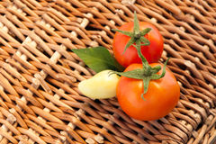 Fresh sweet peppers and tomatoes Stock Photo