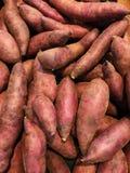 Fresh sweet potato at supermarket for background. Raw sweet potato for abstract background Royalty Free Stock Photos