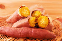 Fresh sweet potatoes Royalty Free Stock Photo