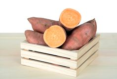 Fresh sweet potatoes Royalty Free Stock Images