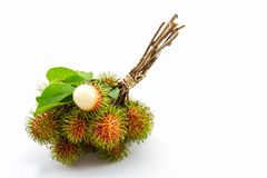 Fresh sweet rambutan,tropical fruit . Fresh sweet rambutan,tropical fruit in Thailand Royalty Free Stock Image