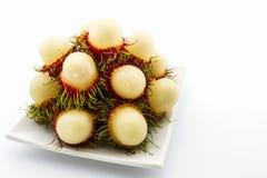 Fresh sweet rambutan,tropical fruit. Fresh sweet rambutan,tropical fruit in Thailand Stock Photography