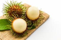 Fresh sweet rambutan,tropical fruit. Fresh sweet rambutan,tropical fruit on white background Royalty Free Stock Image
