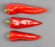 Fresh sweet red pepper on a slate. Fresh sweet red pepper on a slate Royalty Free Stock Image