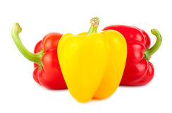 Fresh sweet red and yellow pepper Royalty Free Stock Photos