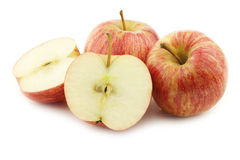 Fresh sweet small apples Royalty Free Stock Images