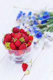 Fresh sweet strawberries in the bowl Royalty Free Stock Photography