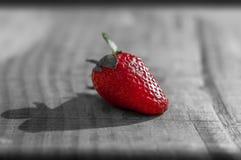 Fresh sweet strawberry on black royalty free stock photo