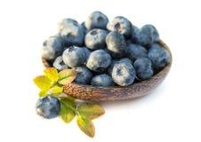 Fresh sweet tasty blueberries on white background Stock Photo