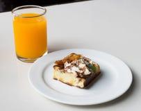 Fresh sweet waffles cake with juice Stock Photos