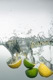 Fresh swimming fruits and vegetables Royalty Free Stock Photo