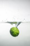 Fresh swimming fruits and vegetables Stock Photo