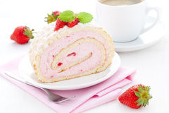 Fresh swiss roll Stock Photography