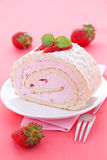 Fresh swiss roll Royalty Free Stock Photography