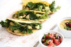 Fresh taco. Food and cuisine. Delicious taco on the table Royalty Free Stock Photo