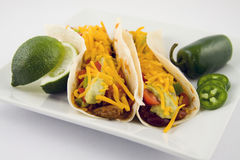 Fresh taco, mexican food. With hot peppers Stock Image