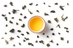 Fresh taiwan oolong tea and teapot stock photography