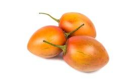 Fresh tamarillo fruits also known as tomato with white background Stock Photography