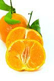 A fresh tangerine - close up Royalty Free Stock Image