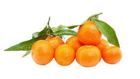 Fresh tangerine fruits Stock Photo