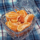 Fresh tangerine fruits Stock Photos