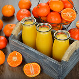 Fresh tangerine juice Royalty Free Stock Photography