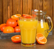 Fresh tangerine juice Royalty Free Stock Photos