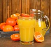 Fresh tangerine juice Royalty Free Stock Photos