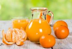 Fresh tangerine juice Stock Image