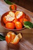 Fresh tangerines in bowl Royalty Free Stock Image