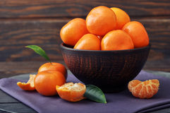 Fresh tangerines Stock Photo