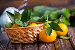 Fresh tangerines Stock Photos