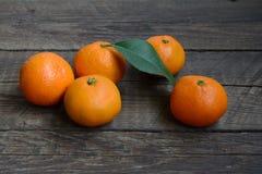 Fresh tangerines Royalty Free Stock Photography