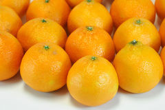 Fresh tangerines. Close up on group of fresh tangerines Stock Photos