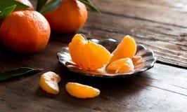 Fresh Tangerines Royalty Free Stock Images