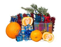 Fresh tangerines Royalty Free Stock Photo