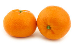 Fresh tangerines. On a white background Royalty Free Stock Photography