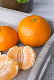 Fresh tangerines Royalty Free Stock Image