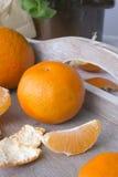 Fresh tangerines Stock Images