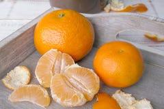 Fresh tangerines Royalty Free Stock Photos