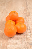 Fresh tangerines Royalty Free Stock Images