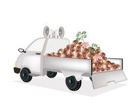 Fresh Taroes on A Pickup Truck Ready for Sale Royalty Free Stock Image